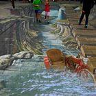 Straßenmalerei in 3D