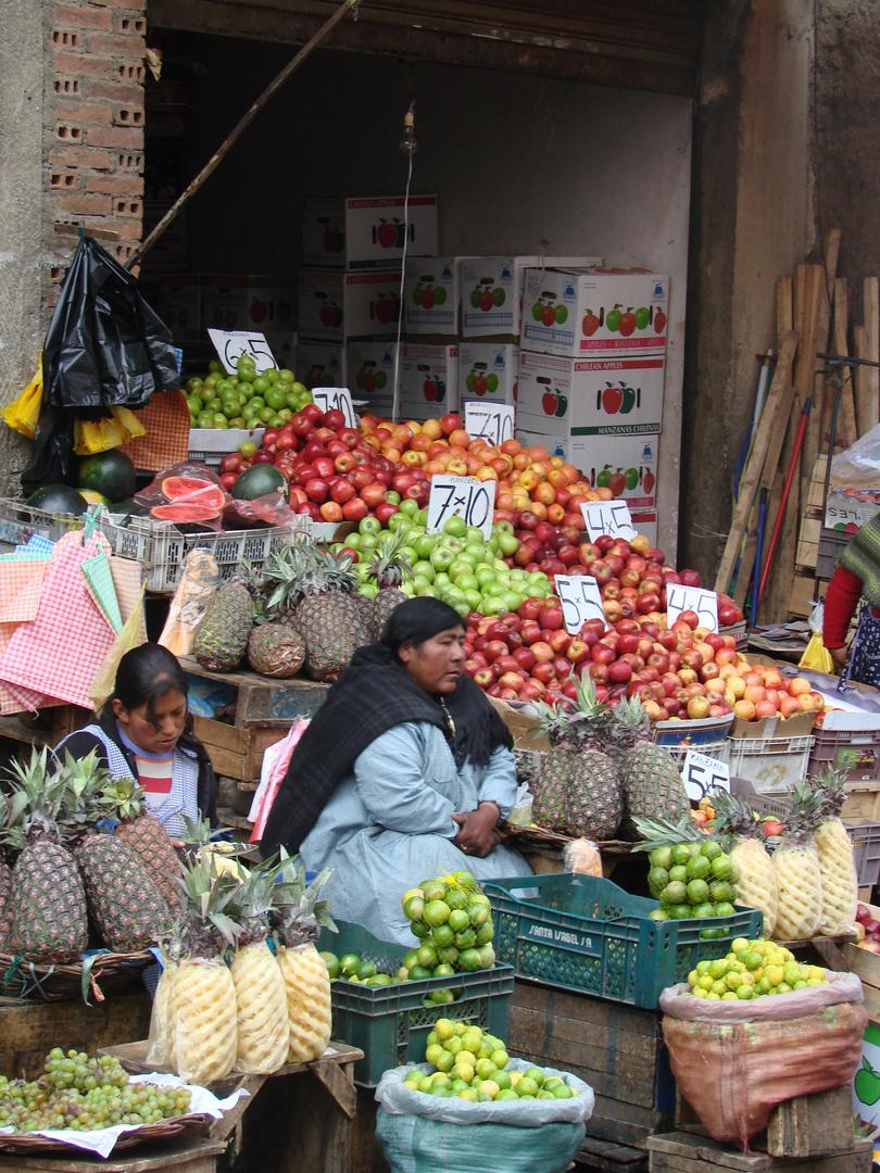 Strassenmarkt in La Paz