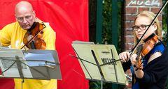 Straßenmusik in Prenzlauer Berg