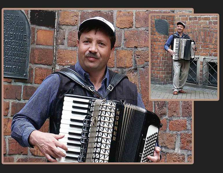Straßenmusikant in....