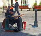 Straßenmusikant in Truro