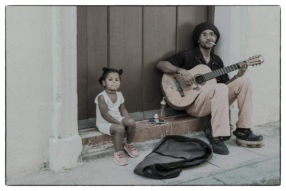 Straßenmusiker...