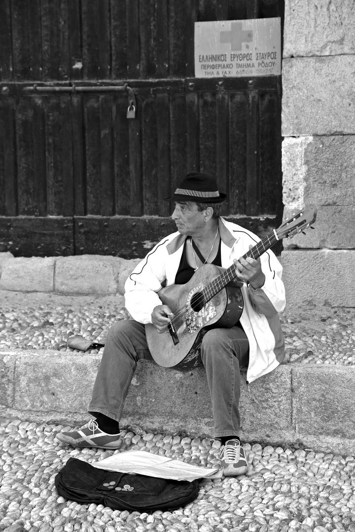 Strassenmusiker auf Rhodos