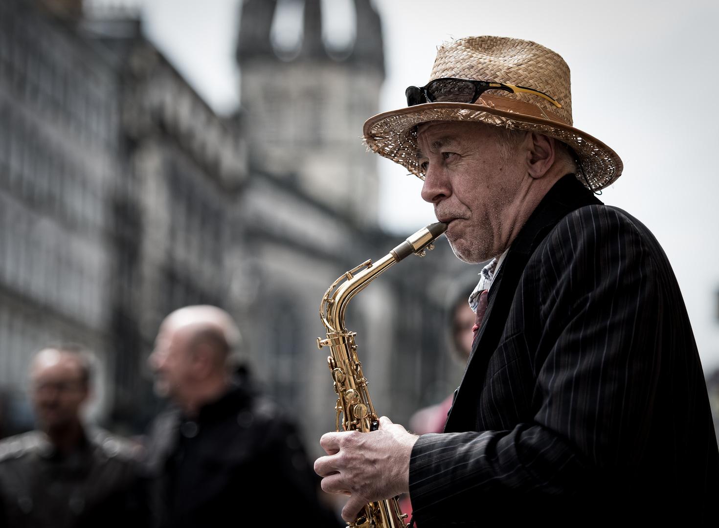 Strassenmusiker Edinburgh