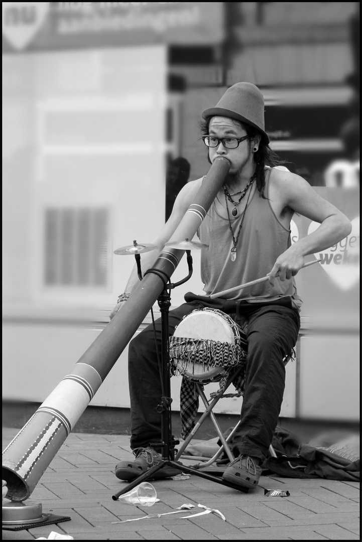 Straßenmusiker in Amsterdam