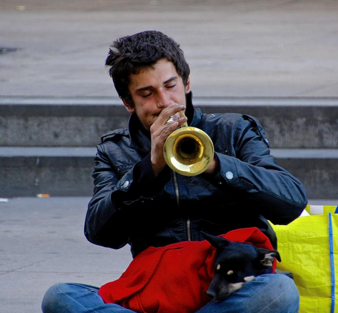 Straßenmusiker in Berlin