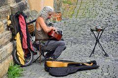Straßenmusiker in der Prager Altstadt