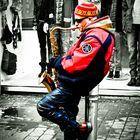 Straßenmusiker in Galway