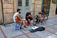 Straßenmusiker in Heraklion