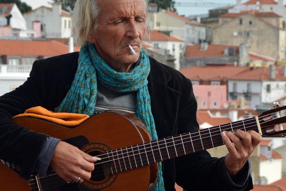 Strassenmusiker in Lissabon