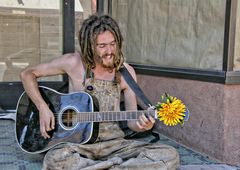 Straßenmusiker in Santa Fe