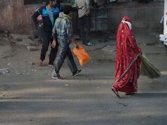 Straßenreinigung in Delhi