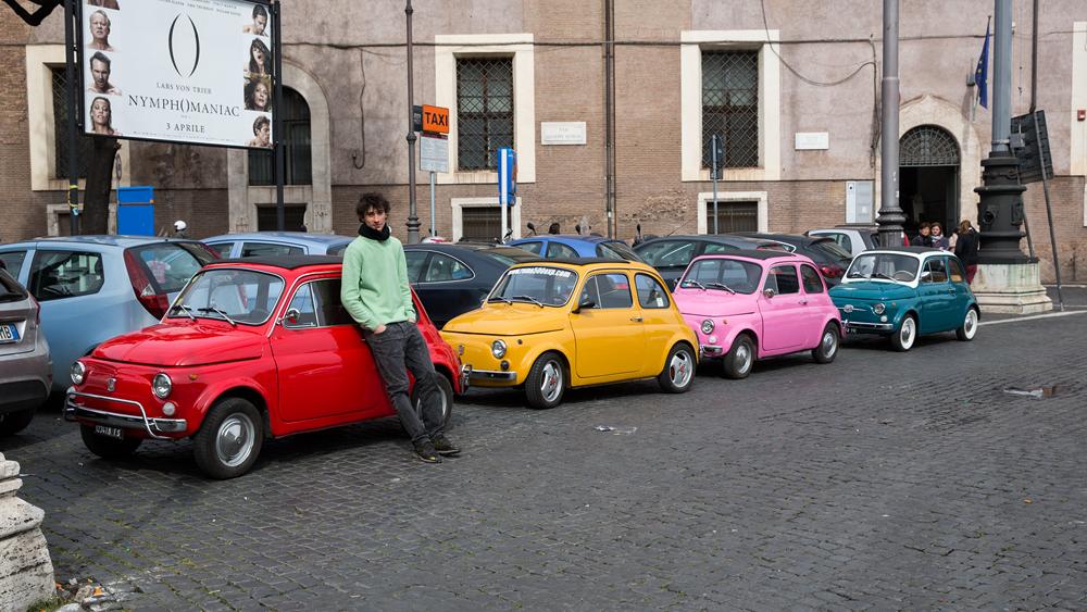 Strassenscene in Rom
