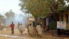 Strassenszene aus Äthiopien