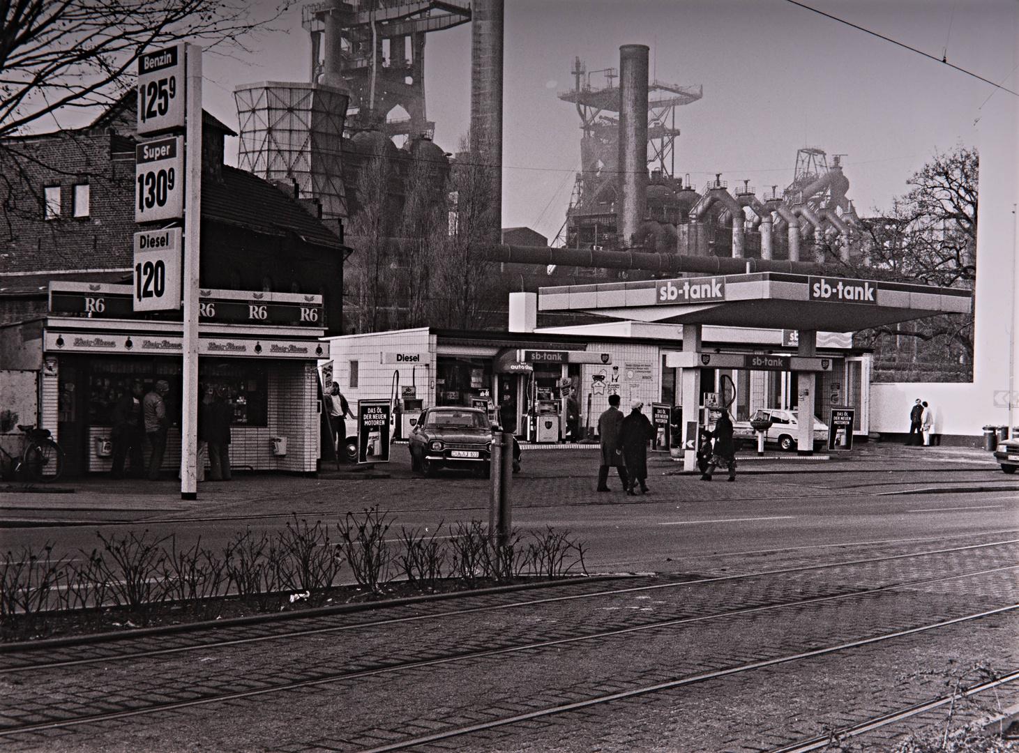 Straßenszene Duisburg Bruckhausen 1981, reloaded