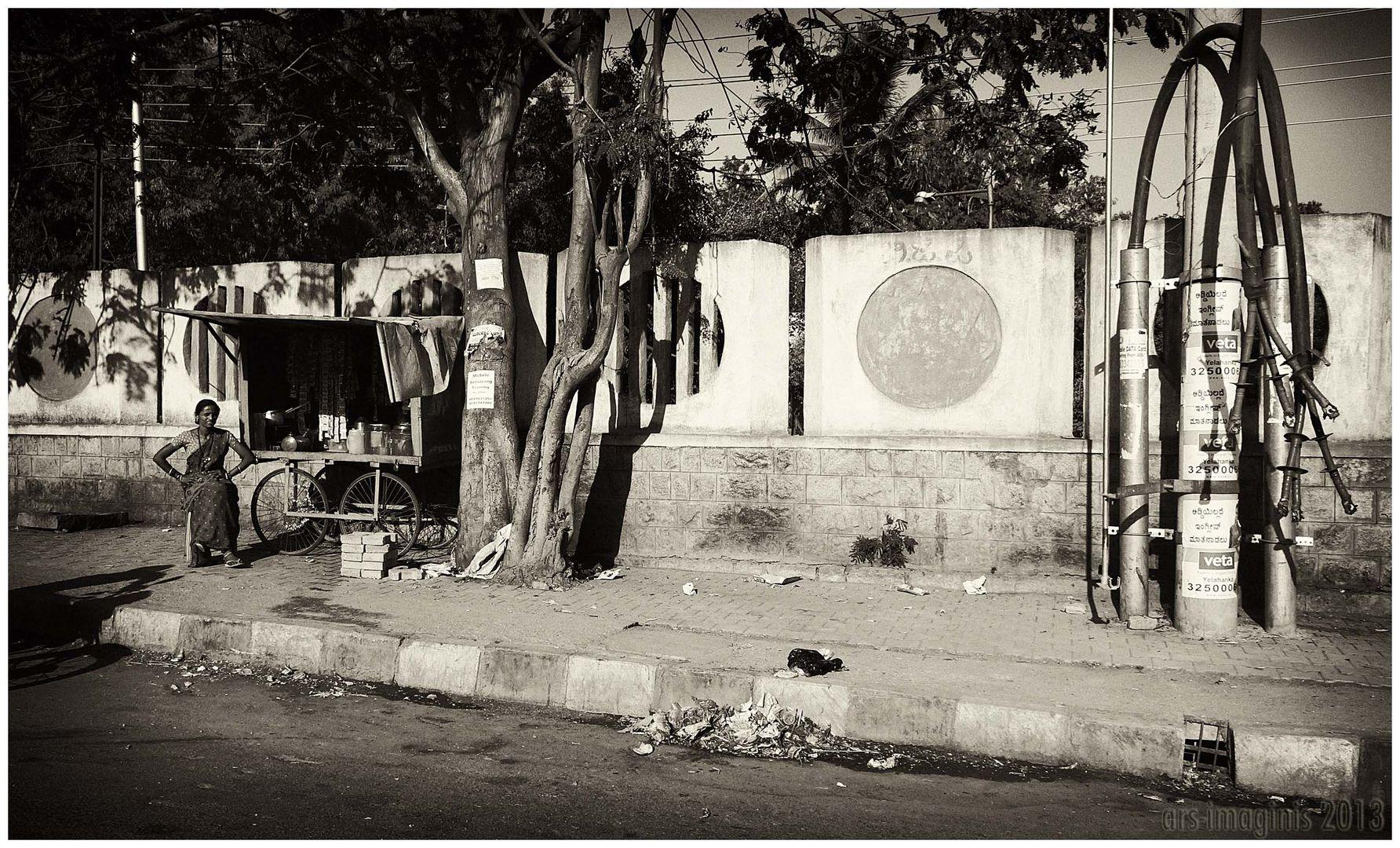 Strassenszene in Bangalore/Indien