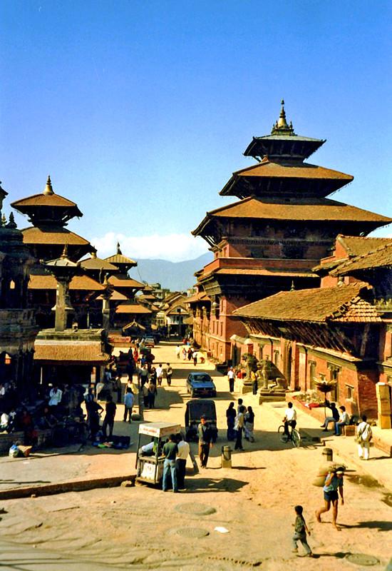 Straßenszene in Bhaktapur , Nepal