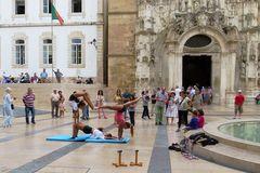 Strassenszene in Coimbra/ Portugal