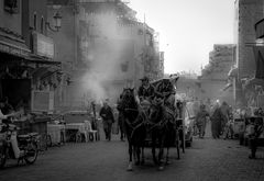 Straßenszene in der Kasbah von Marrakesch