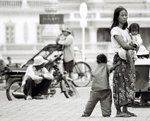 Strassenszene in Kambodscha