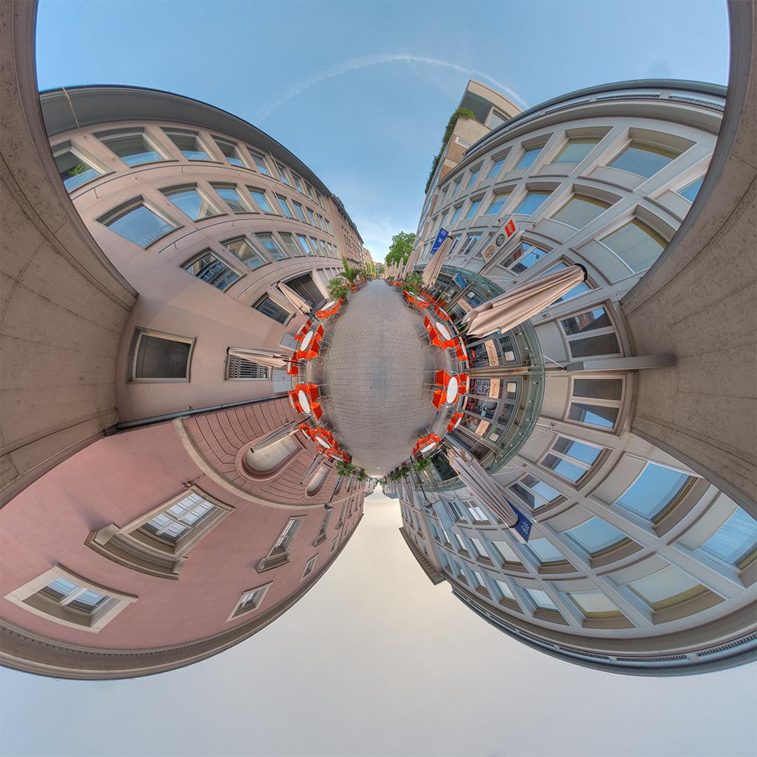 Strassenszene in Karlsruhe