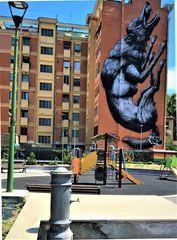 Street Art a Roma: La grande Lupa in zona Testaccio