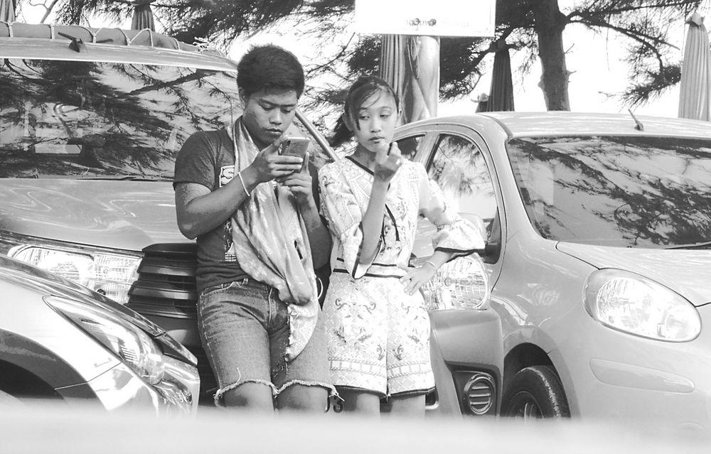 street ein Display Zwei Augenpaare Thai lum-20-sw