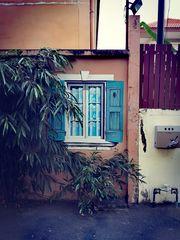 Street Fenster zur STRASSE-1 Thai P20-20-col  +1Foto