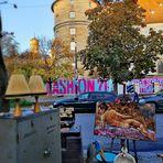 street Gemälde Markt HerbstP20-20-col +4Fotos