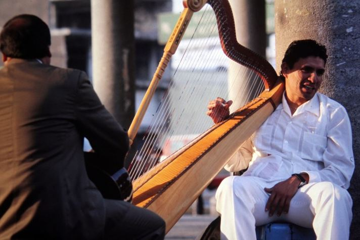 street Harfespieler Mexiko M-32