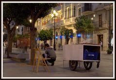 street life in sevilla
