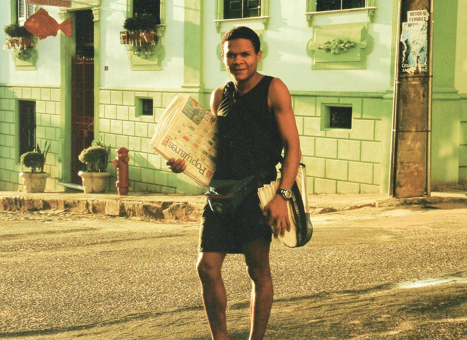 street Mann sunrise Brasil fc-Startbild +REISEFOTOS
