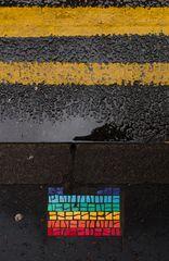 street mosaic, manchester, united kingdom