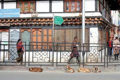 Street of Thimphu (Bhutan)