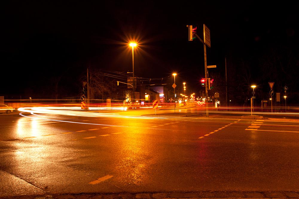 street on the night