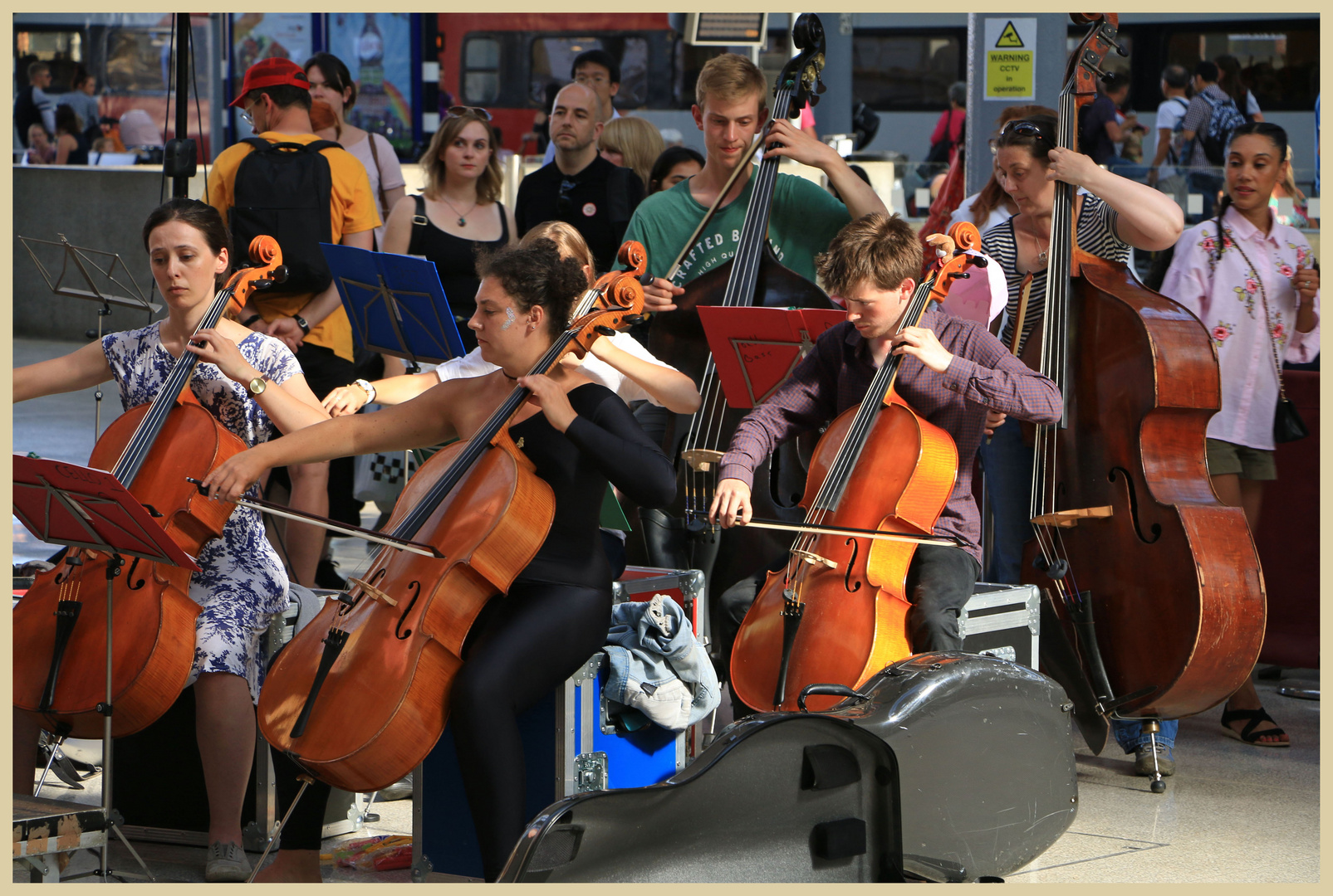 street orchestra at newcastle central station 13