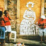 Street people vor Mosaik Brasil