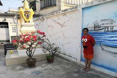 street Person Schrein Thai P20-20-colw +9Fotos