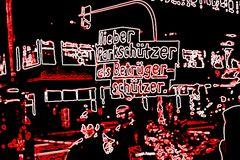 STREET SCHUETZER K21 Stuttgart Dez13 Bildverfremdung
