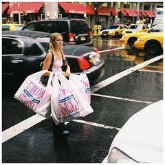 street, shopping girl