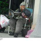 Street Woman Reading