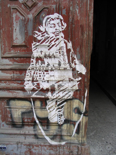 streetart cutting