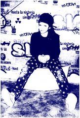 Streetart Hip Hop Girl