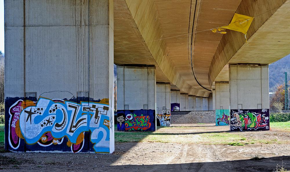 Streetart in Lörrach unter d. A-98 Nr.14