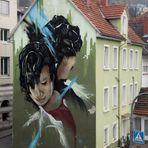 Streetart Kopf Wand HD J5-19-col