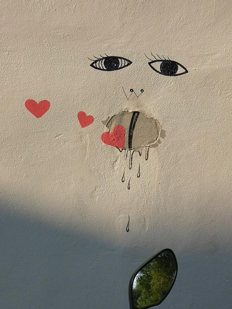 streetart Nr. 2 Gesicht mit Herzen P20-20-col