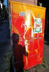 streetart Portrait und Schatten J5-col