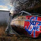 Streetart - used and unused canvas