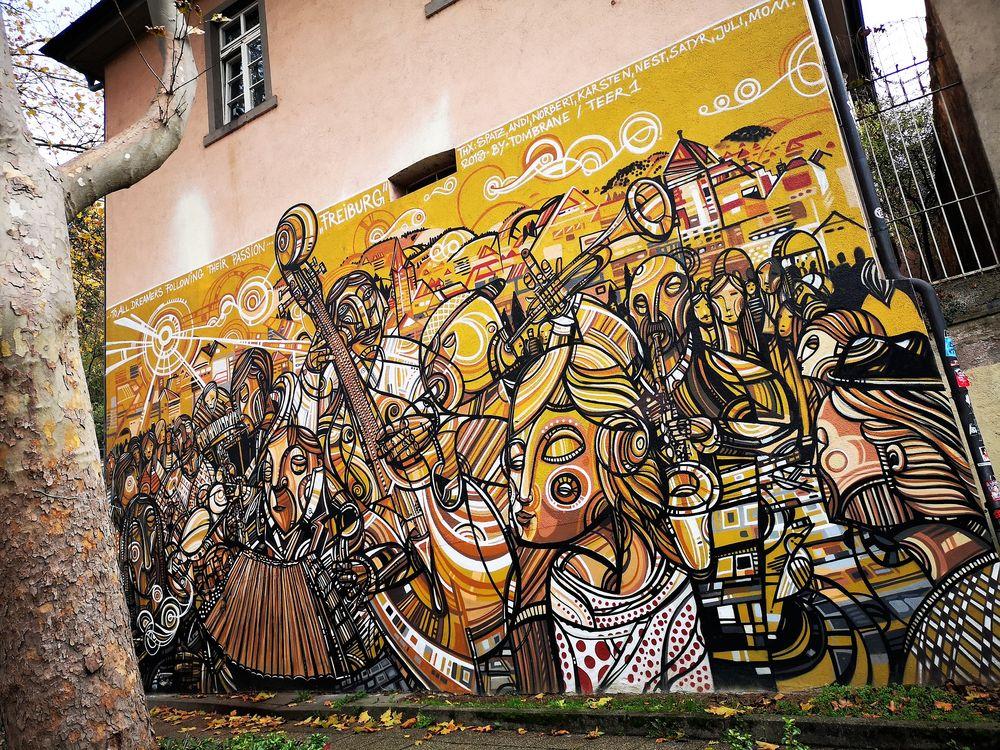 streetart Wand Gemälde FR  P20-19-col +4malFR