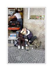 Streetlife 28 (smooching in public) ... Platte, Wuppertal City